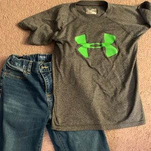 Boys Under Armour Shirt and Old Navy Jeans